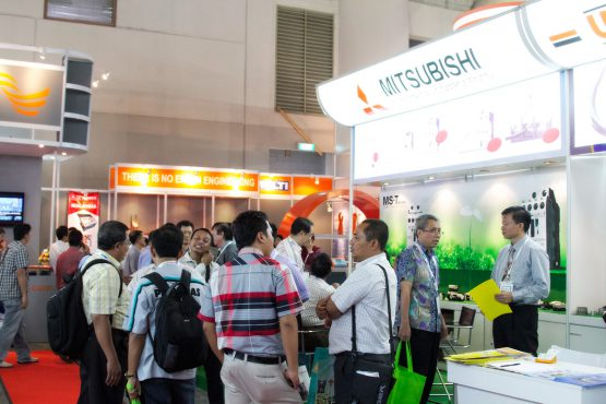 Construction Indonesia: Investment opportunities being discussed at the Mitsubishi stand.